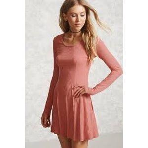 Forever 21 Ribbed Knit Swing Dress